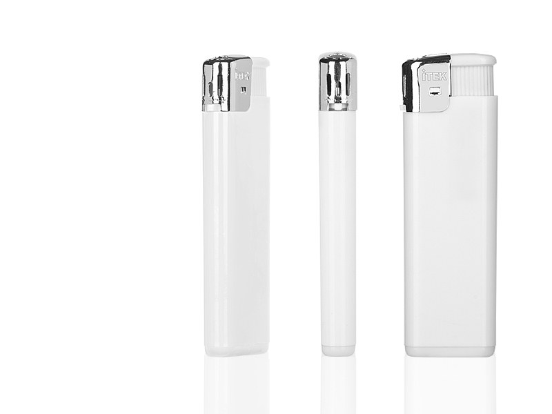 fire elektronski plasticni upaljac beli makart