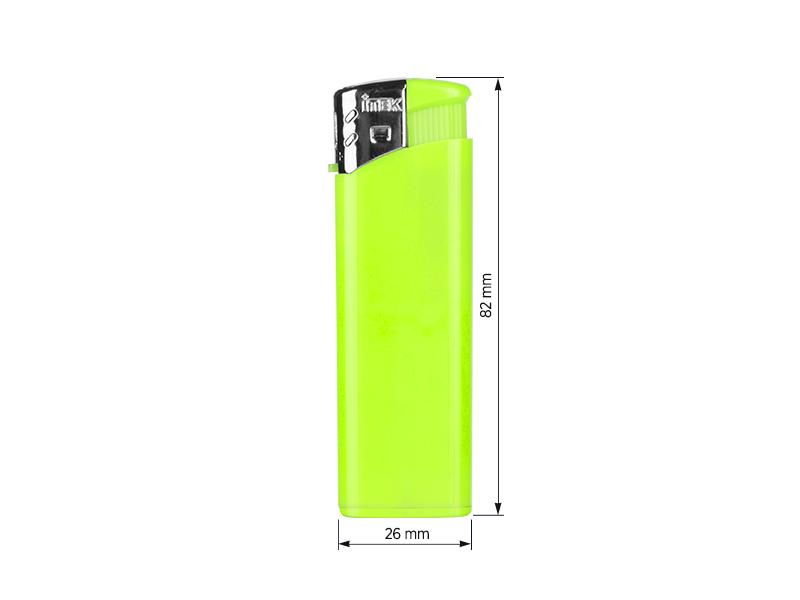 flame elektronski plasticni upaljac neon zeleni makart