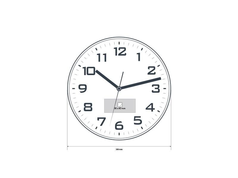 delta zidni sat beli makart