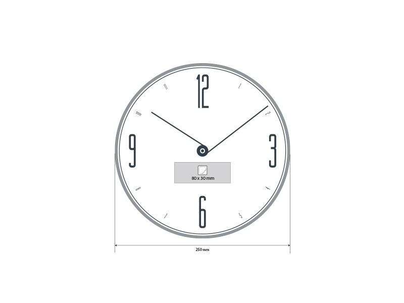 luna zidni sat sivi makart