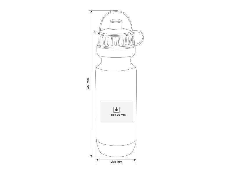 top form plasticna sportska flasica 600 ml crni makart