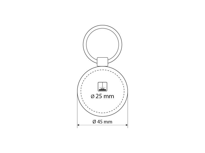 pelle metalni privezak za kljuceve crni makart