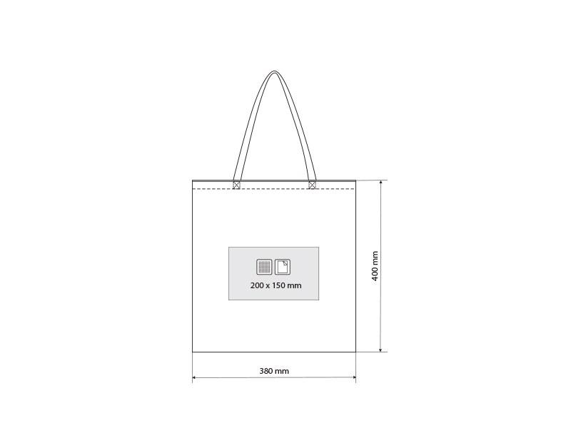 borsa biorazgradiva torba za kupovinu beli makart