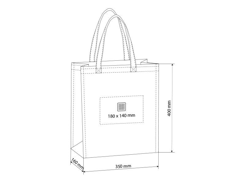 plaza maxi biorazgradiva torba za kupovinu beli makart