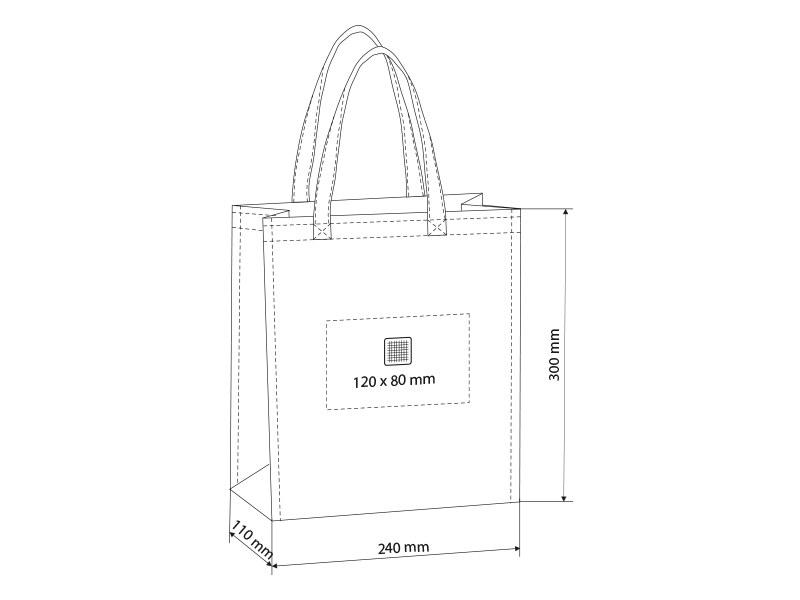 plaza mini biorazgradiva torba plavi makart