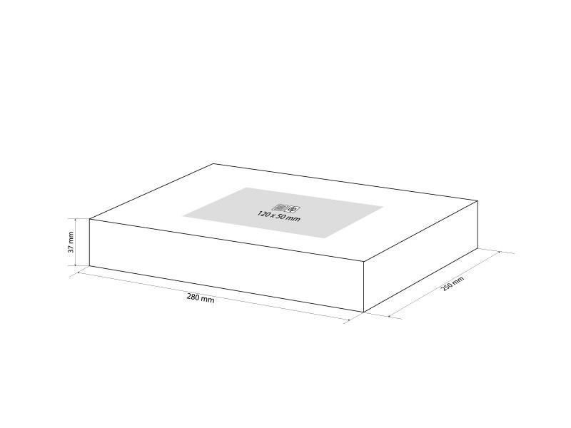 GIFT BOX 2, poklon kutija, crni
