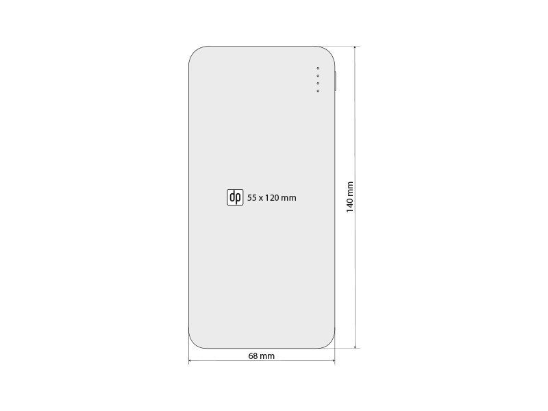 p10 pomocna baterija kapaciteta 10000 mah crna makart