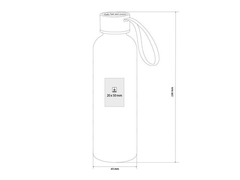 h2o plus plasticna boca za vodu 550 ml transparentni makart
