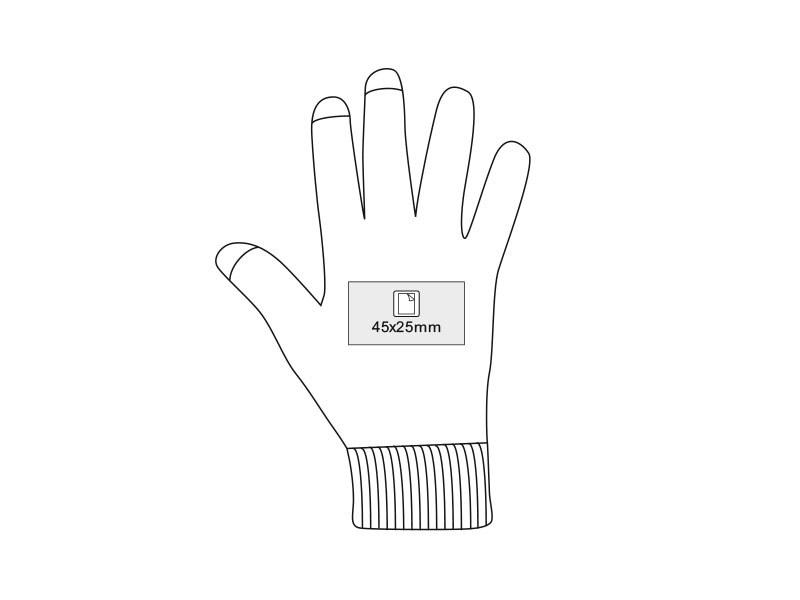 touch glove rukavice sa tri aktivna touch prsta akril crveni l/xl makart