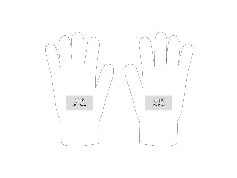 swipe rukavice sa tri aktivna touch prsta akril plavi l/xl makart