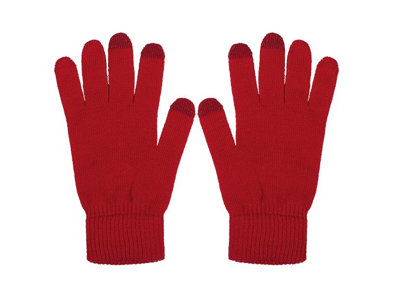 swipe rukavice sa tri aktivna touch prsta akril crveni s/m makart