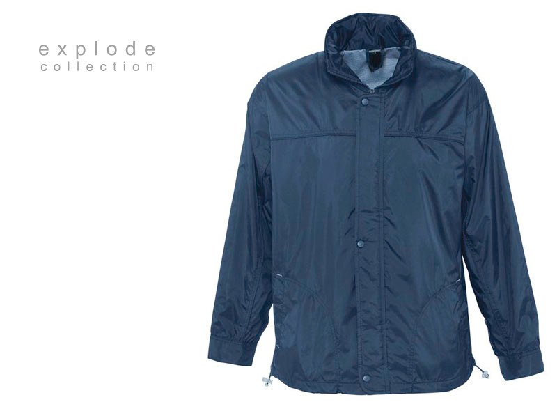 resort jakna postavljena vetrovka tamno plava makart