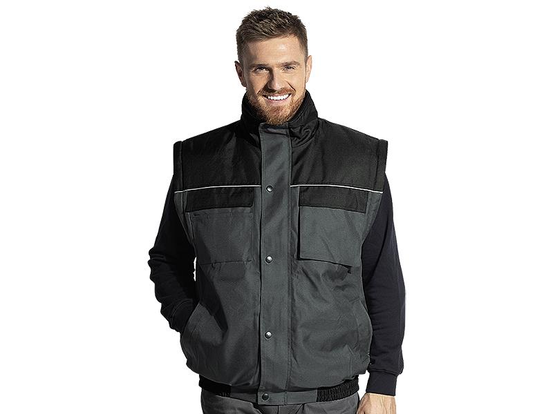 shift radna jakna sa skidajucim rukavima tamno siva l makart