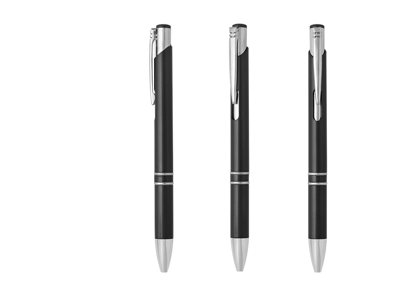 METZ, plastična hemijska olovka, crna