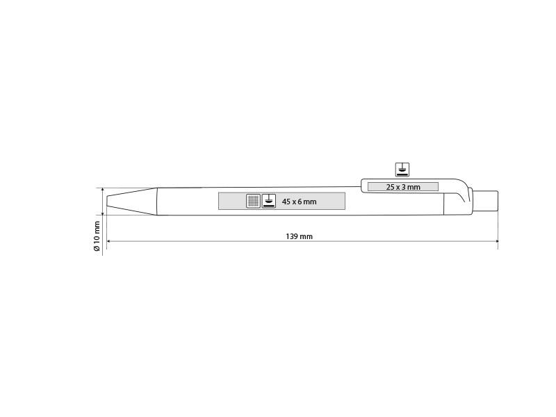 vita c biorazgradiva hemijska olovka crni makart