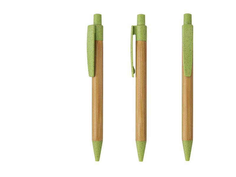 LEAF, drvena hemijska olovka, svetlo zelena