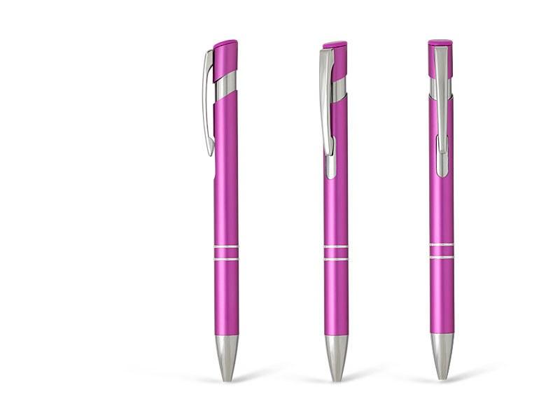 OGGI PLUS, metalna hemijska olovka, pink