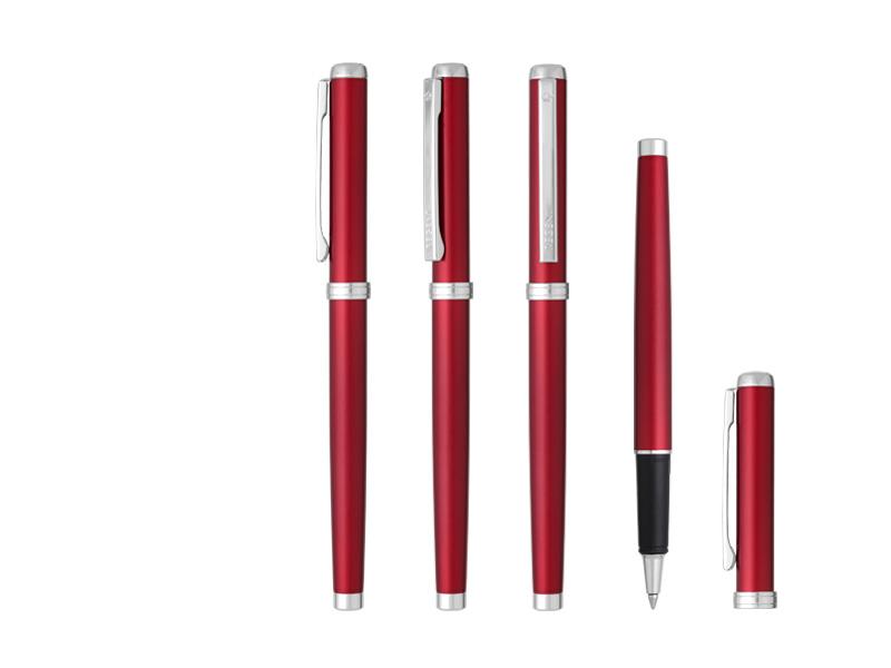victor r regent metalna roler olovka crvena makart