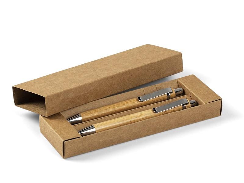 PALMA, drvena hemijska i tehnička olovka u setu, bež