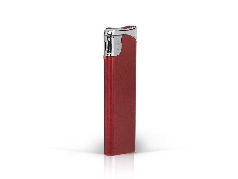 burn elektronski plasticni upaljac metalik metalik crveni makart