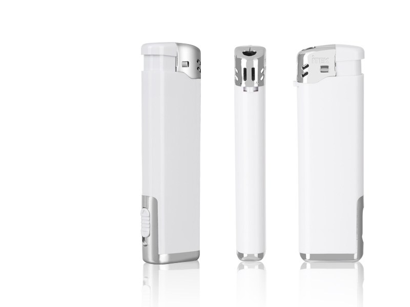 lumio elektronski plasticni upaljac sa led lampom beli makart