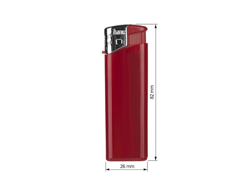 flame elektronski plasticni upaljac crveni makart