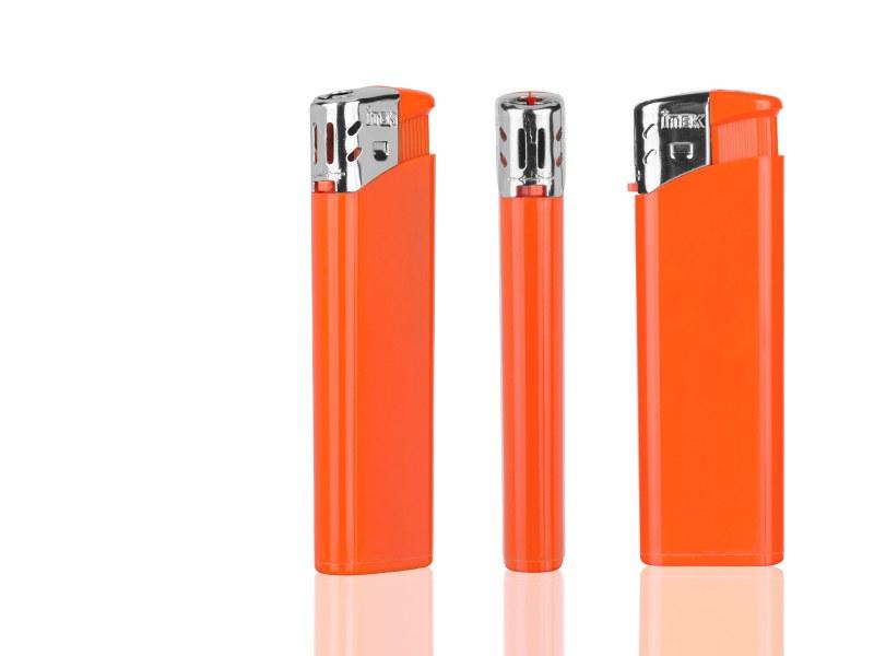 flame elektronski plasticni upaljac neon narandzasti makart