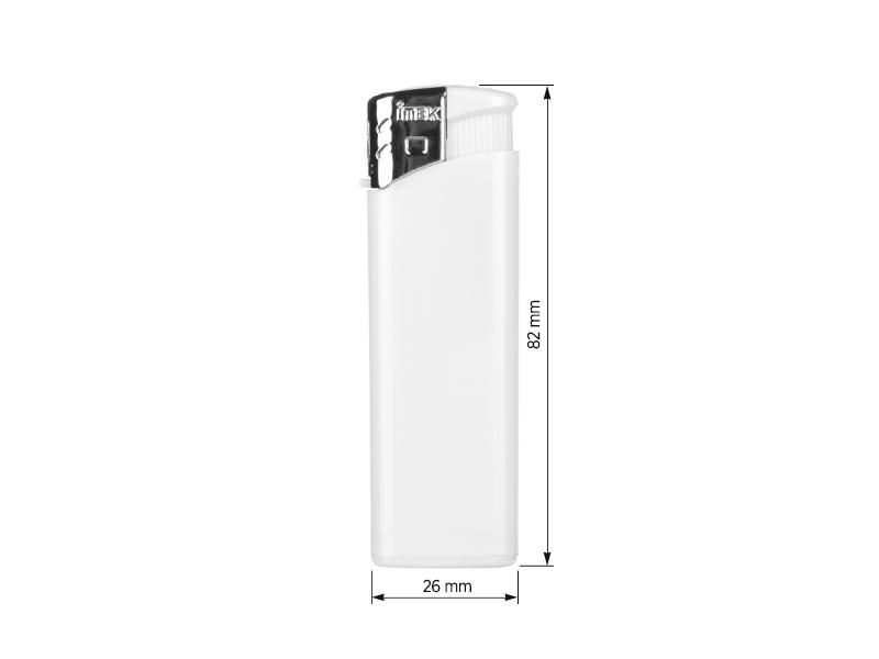 flame elektronski plasticni upaljac beli makart
