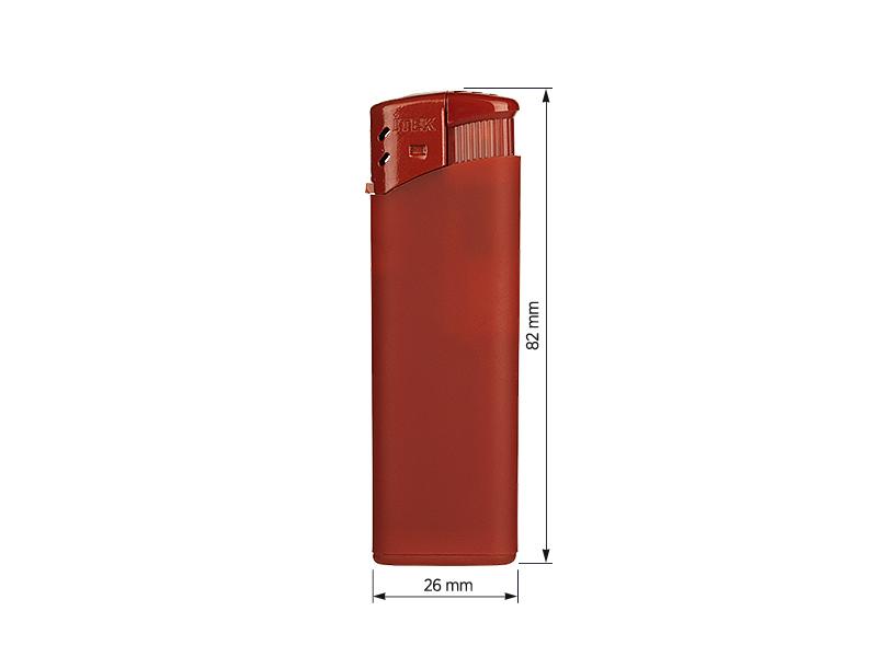 iscra soft elektronski plasticni upaljac crveni makart