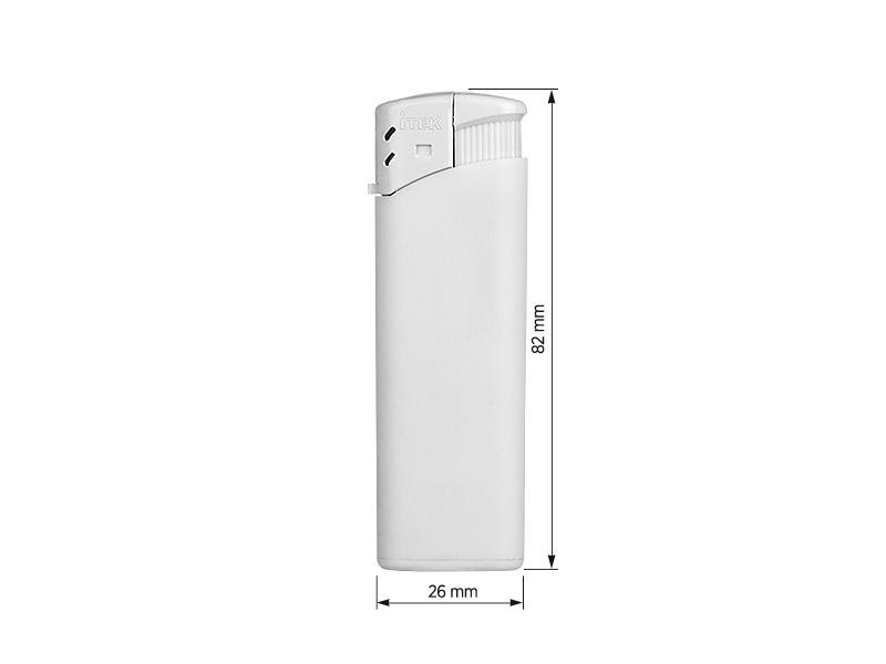 iscra soft elektronski plasticni upaljac beli makart