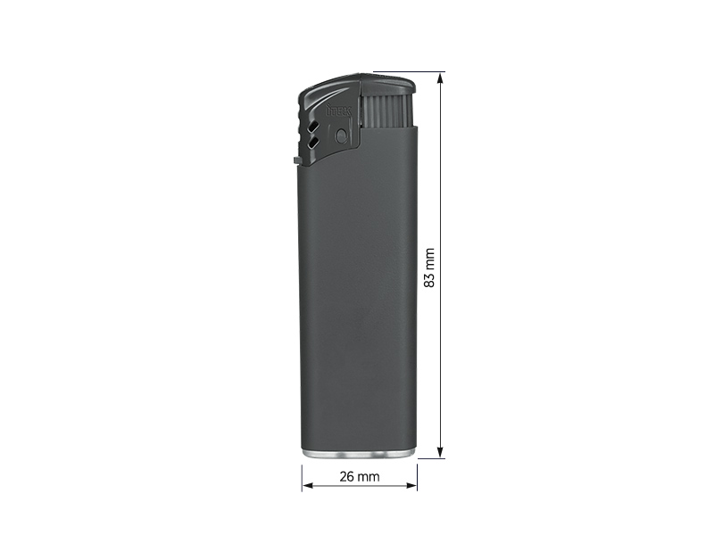 turbo soft elektronski plasticni upaljac tamno sivi makart