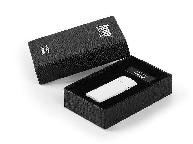 fuma metalni usb upaljac u poklon kutiji beli makart