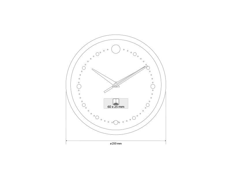 TWINGO, zidni aluminijumski sat, ljubičasti