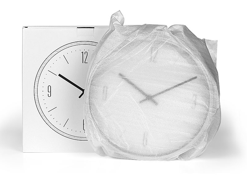KLARA, zidni sat, sivi