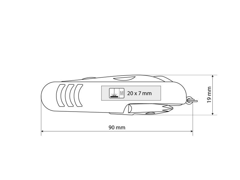 expert visenamenski noz sa 12 funkcija crveni makart