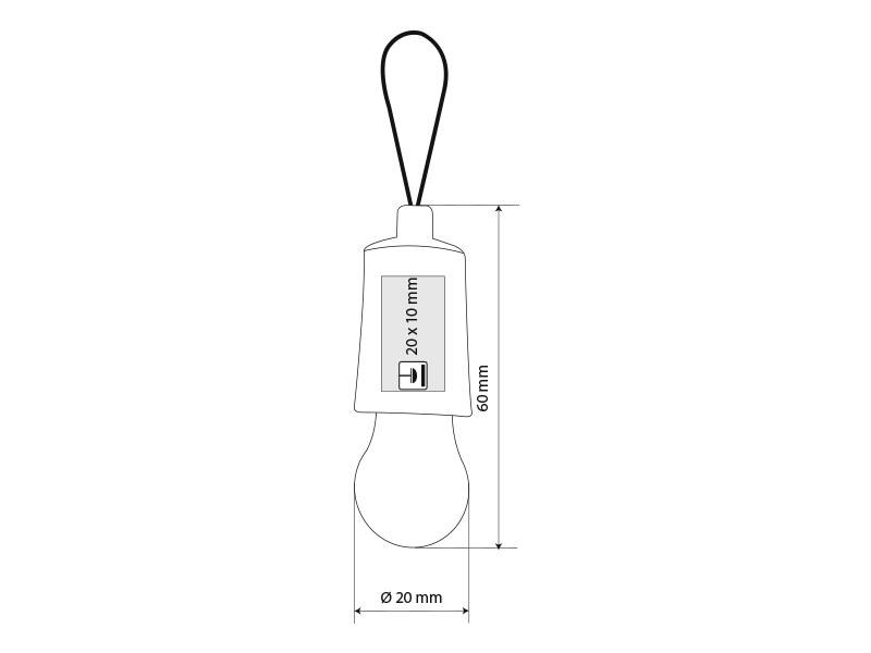 idea mini privezak za kljuceve u obliku sijalice plavi makart