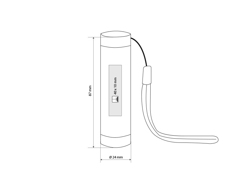 toby baterijska lampa 1 led 1 w silver makart