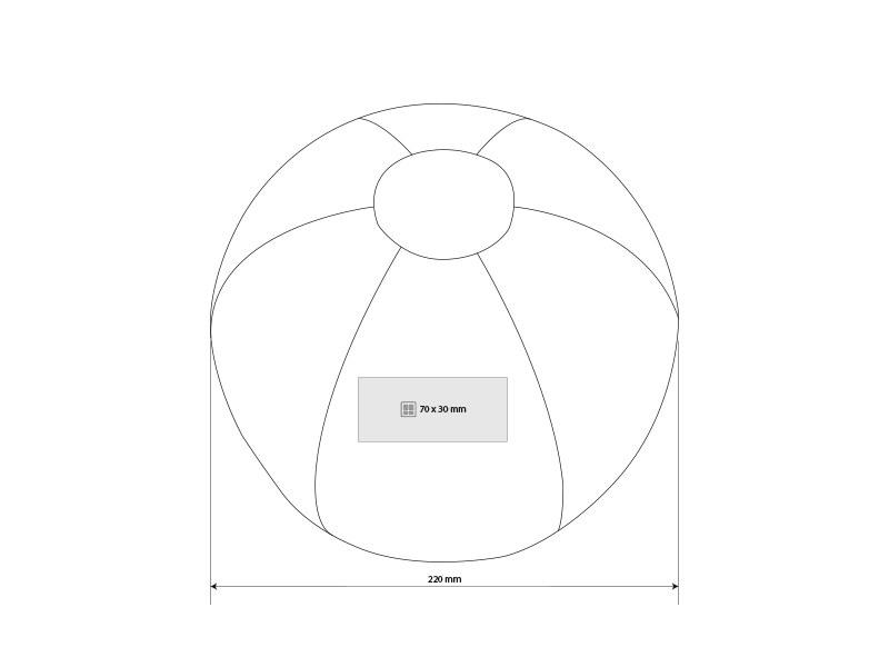 summer lopta za plazu o 22 cm beli makart