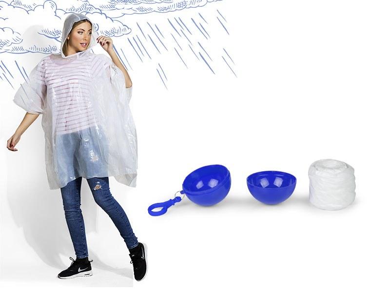 rainco kabanica u plasticnoj loptici plavi makart