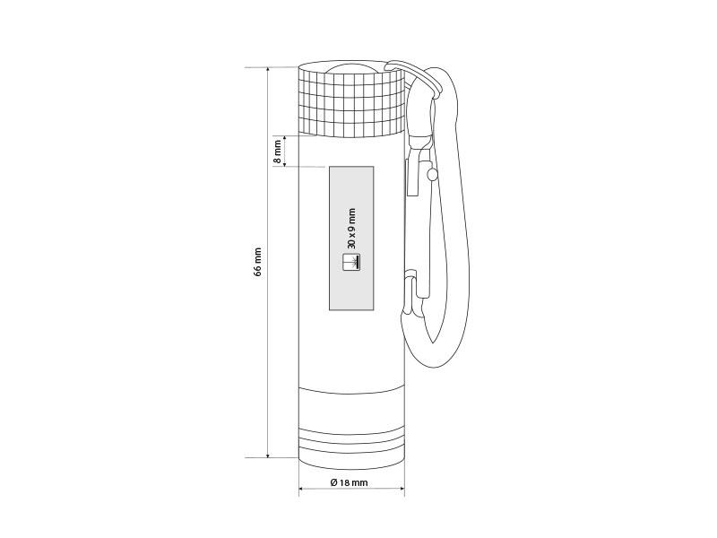 led baterijska lampa crni makart