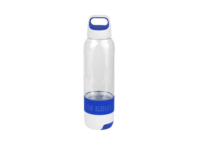 fitness plasticna sportska flasica sa peskirom 600ml plava makart