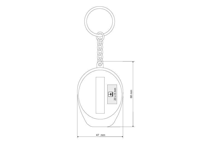 cop plasticni privezak za kljuceve crveni makart