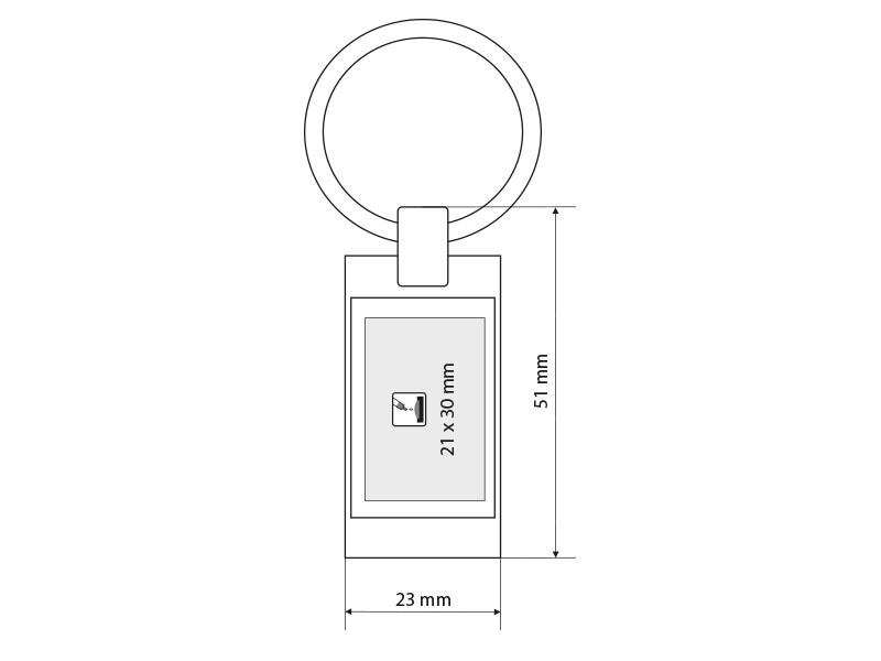 veneto metalni privezak za kljuceve crni makart
