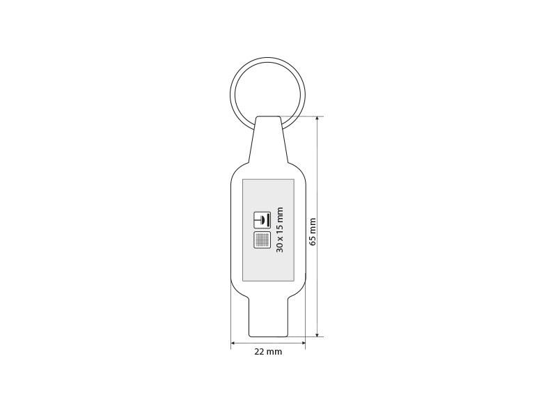 CLIPER, plastični privezak za ključeve, crni