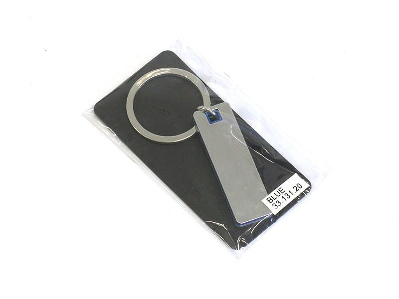 piano metalni privezak za kljuceve plavi makart