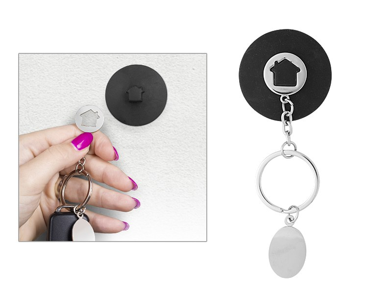 casa metalni privezak za kljuceve crni makart