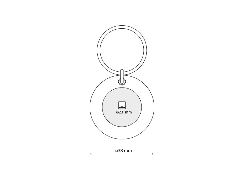 circo metalni privezak za kljuceve crveni makart
