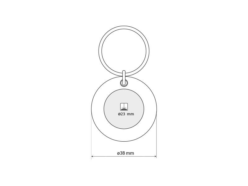 circo metalni privezak za kljuceve beli makart
