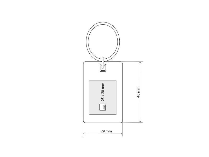 cubino metalni privezak za kljuceve beli makart