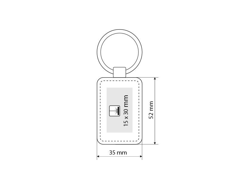 pelle r metalni privezak za kljuceve crni makart